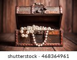 Old Treasure Chest With Pearl...