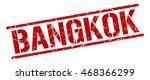 bangkok stamp. red square... | Shutterstock .eps vector #468366299