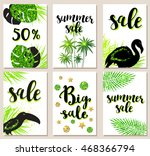 set of summer tropical glitter...   Shutterstock .eps vector #468366794