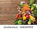 assortment of  fresh vegetables ... | Shutterstock . vector #468369905