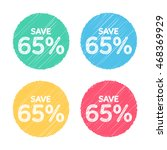 65  off. sale and discount... | Shutterstock .eps vector #468369929