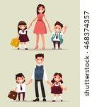 back to school. set of... | Shutterstock .eps vector #468374357