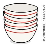 many bowl   cartoon vector and... | Shutterstock .eps vector #468377609