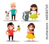 set of characters. children... | Shutterstock .eps vector #468383765