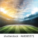 lights at night and stadium 3d | Shutterstock . vector #468385571