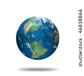 globe model illustration made... | Shutterstock . vector #46838866