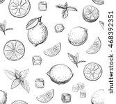 vector pattern isolated figures ... | Shutterstock .eps vector #468392351