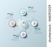 modern spiral infographics... | Shutterstock .eps vector #468393329