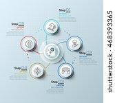 modern spiral infographics... | Shutterstock .eps vector #468393365
