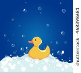 bathtub and a duck. isolated... | Shutterstock .eps vector #468398681