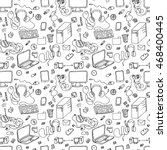 seamless pattern of hand drawn... | Shutterstock . vector #468400445