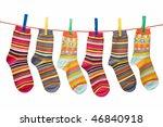 Stock photo socks lying 46840918