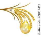 rice bran oil. vector... | Shutterstock .eps vector #468414815