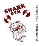 shark from gym on white...   Shutterstock . vector #468415157