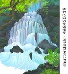 streams of water flowing down... | Shutterstock .eps vector #468420719