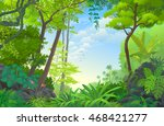 beautiful dense rain forest | Shutterstock .eps vector #468421277