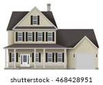 countryside private house ... | Shutterstock .eps vector #468428951