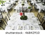wedding guest dinner table set | Shutterstock . vector #46842910