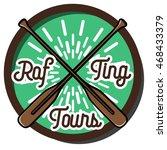 color vintage rafting emblem | Shutterstock .eps vector #468433379