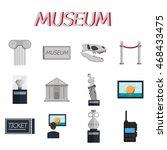 museum flat icons set | Shutterstock .eps vector #468433475