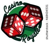 color vintage casino emblem | Shutterstock .eps vector #468434531