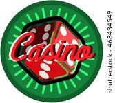 color vintage casino emblem | Shutterstock .eps vector #468434549