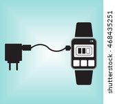 recharging smart watch vector... | Shutterstock .eps vector #468435251