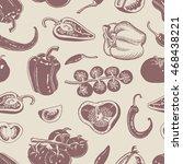 pepper chili vegetable pattern... | Shutterstock .eps vector #468438221