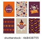set of halloween vertical... | Shutterstock .eps vector #468438755