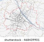 map of vienna city. austria... | Shutterstock .eps vector #468439901