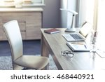 comfortable and light place for ... | Shutterstock . vector #468440921