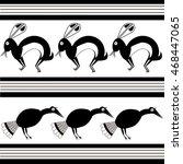 rabbit and bird   stylized... | Shutterstock .eps vector #468447065
