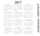 2017 vector calendar design.... | Shutterstock .eps vector #468447677