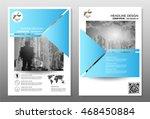 blue annual report brochure... | Shutterstock .eps vector #468450884