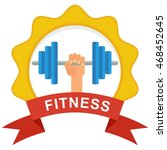 logo for fitness club. elements
