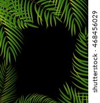 beautifil palm tree leaf ... | Shutterstock .eps vector #468456029