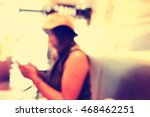 blurred people in cafe... | Shutterstock . vector #468462251