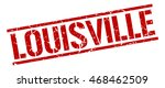 louisville stamp. red square... | Shutterstock .eps vector #468462509