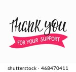 thank you friendship family... | Shutterstock .eps vector #468470411