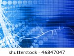 digital media with a modern... | Shutterstock . vector #46847047