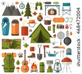 mountain hike elements. autumn... | Shutterstock .eps vector #468472004