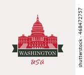 vector illustration capitol... | Shutterstock .eps vector #468472757