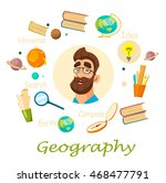 geography teacher. infographic. ... | Shutterstock .eps vector #468477791