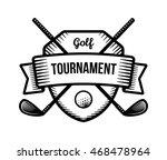 golf vector logo. summer... | Shutterstock .eps vector #468478964
