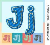 Vector Jeans Alphabet. Optiona...