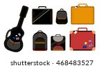 isolated vector valise | Shutterstock .eps vector #468483527