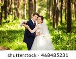 wedding. wedding day. beautiful ... | Shutterstock . vector #468485231