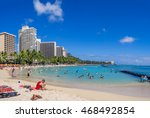 honolulu  usa   aug 4  sun... | Shutterstock . vector #468492854