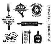 food related typography set.... | Shutterstock .eps vector #468493814