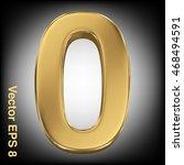 vector 3d golden number... | Shutterstock .eps vector #468494591